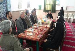 حضور اعضای شورای اسلامی شهر لار در دبستان شرف