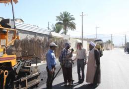 اتمام پروژه ورودی شهرک محمد رسول الله