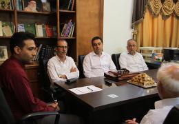 دیدار شهردار لار و اعضای شورای اسلامی با رئیس اداره اوقاف لارستان