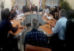 حضور اعضای یاوران شورای محله کهویه در جلسه شورا