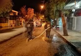 ضد عفونی شهر لار بمنظور پیشگیری از شیوع کرونا ویروس