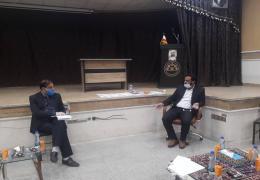 حضور مهندس مهرابی مدیریت معماری شهرسازی اداره کل راه و شهرسازی لارستان در جلسه شورا